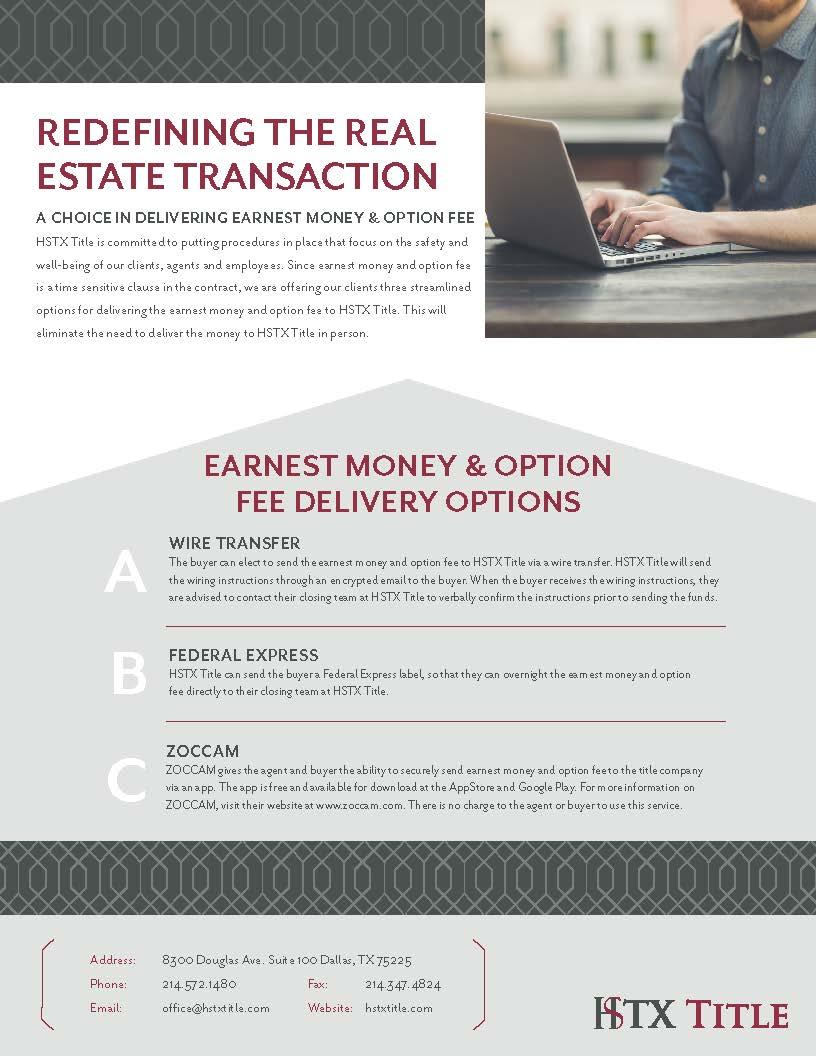 Earnest Money Option Fee Flyer preview